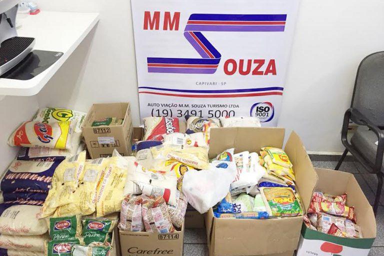 MM Souza arrecada mais de 400 kg de alimentos em ação beneficente