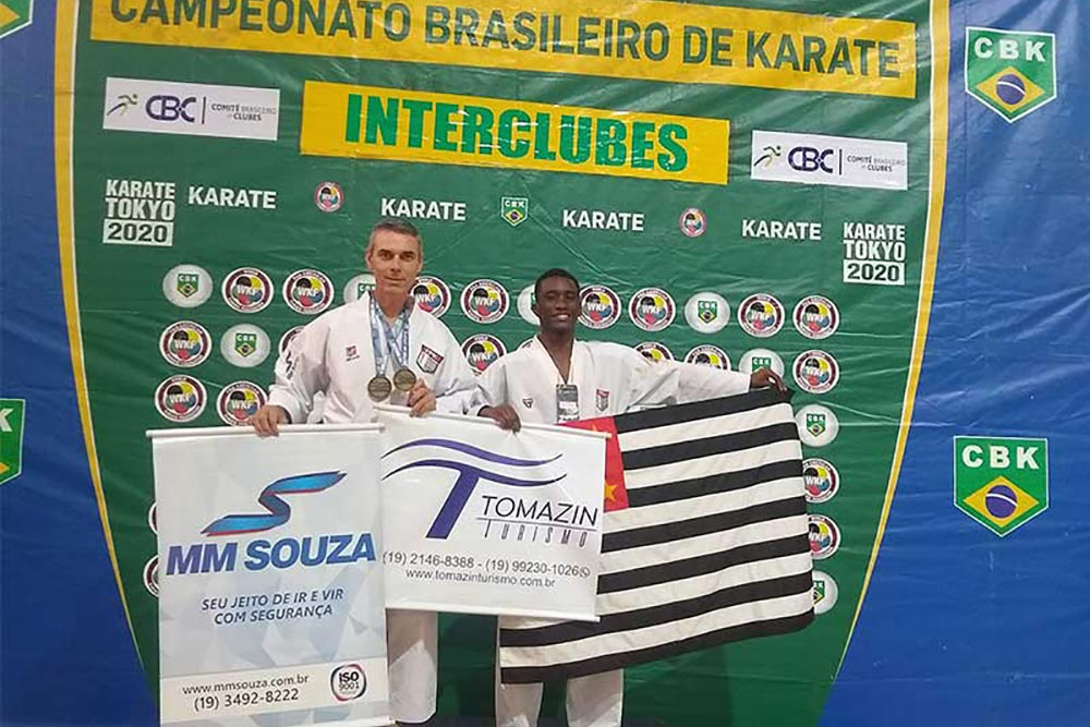 Edison Zuin conquista duas medalhas de ouro no Brasileiro de Karatê