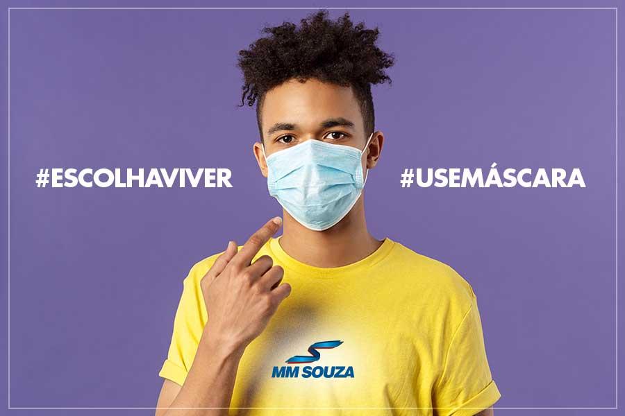 MM Souza orienta usuários do transporte público municipal a usarem máscara